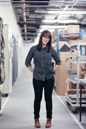 Lauren Palmer at the Fisher & Paykel factory in Dunedin.