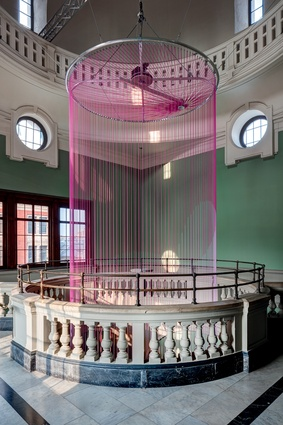 London Design Festival: 'Green Room' by British design studio Glithero was sited in a six-storeyed stairwell, altering viewers' perceptions of what a mechanical clock can be like.