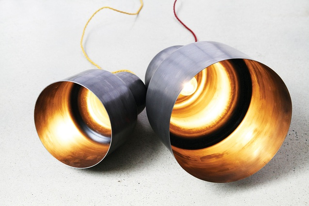 Spun copper pendants by LifeSpace Journey.