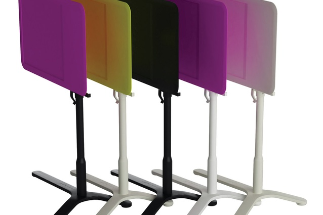 Slide side table designed by Johannes Torpe Studios.