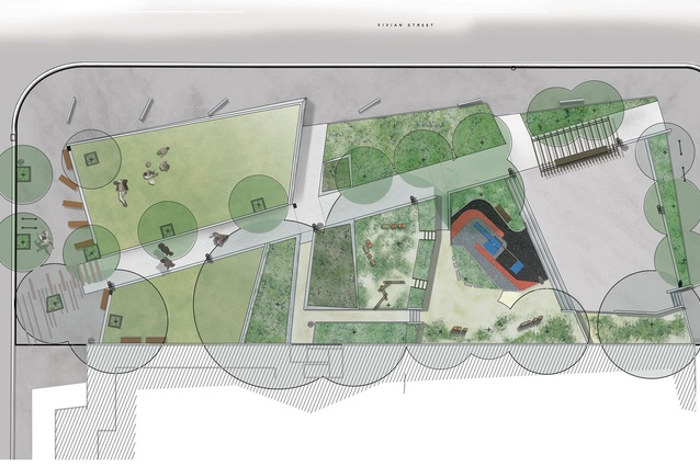 Plan of park.