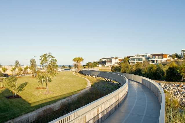 Little Cove Bay public realm by McGregor Coxall with Hill Thalis Architects and Candalepas Associates Architects.
