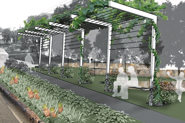Proposed vine shelters at Hampstead Common aim to reclaim the road.