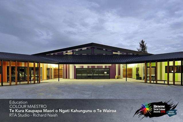 Education Colour Maestro Award winner: Te Kura Kaupapa Māori o Ngāti Kahungunu o Te Wairoa by Richard Naish of RTA Studio.