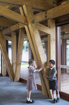 Winner: Craftsmanship Award – Cathedral Grammar Junior School - Timber Structure by Andrew Barrie Lab & Tezuka Architects.