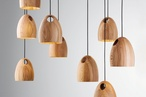 Oak pendant light