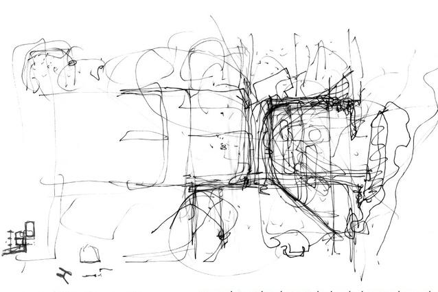 An early design sketch of the Castlecrag House.
