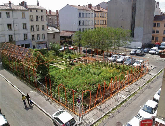 The Block of Amaranths in Lyon, France (on a former car park) is an example of urban agriculture as an appropriate land use.