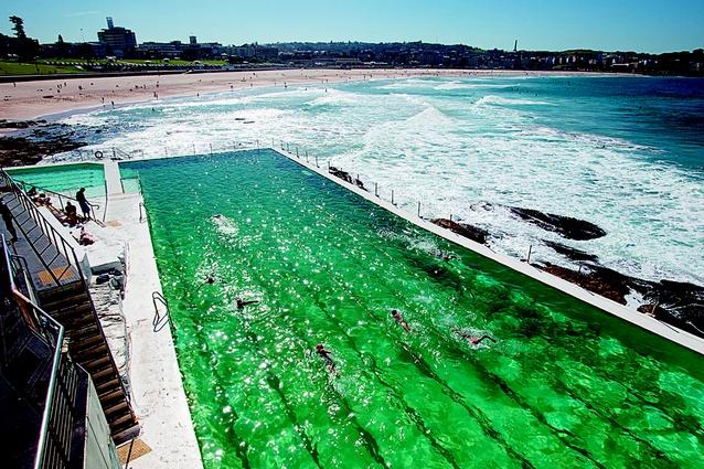 Bondi Baths overlooking the beach.