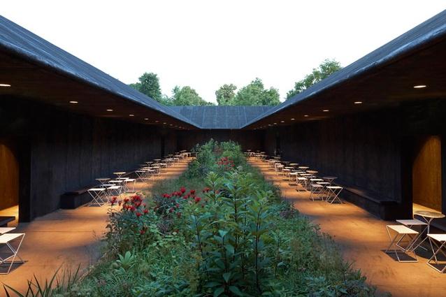Piet oudolf inside the serpentine pavilion architecture now for Piet oudolf landscape architect