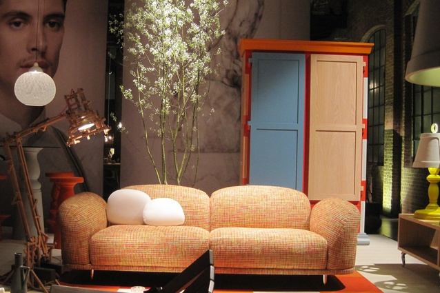 Moooi showed both new and familiar pieces in a series of installations.