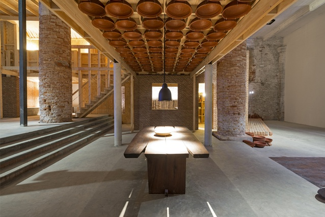 Kundoo's Wall House 1-to-1, installation at the Venice Biennale 2012.