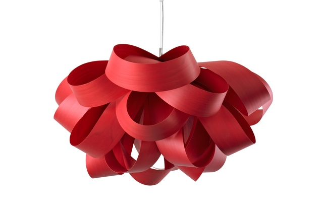 The Agatha light in bright cherry makes a bold statement.