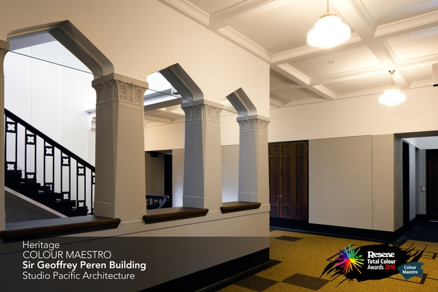 Heritage Colour Maestro Award winner: Sir Geoffrey Peren building by Studio Pacific Architecture.