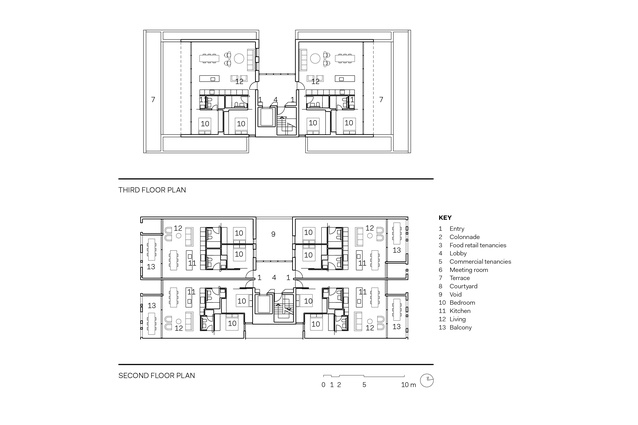 Sydney 385 second and third floor plans.