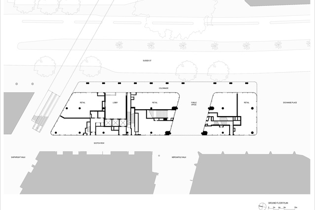 Site layout for International House Sydney by Tzannes.