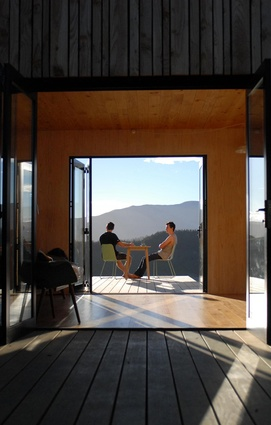 Warrander Studio by First Light Studio and Makers of Architecture in association. View to west (from east).