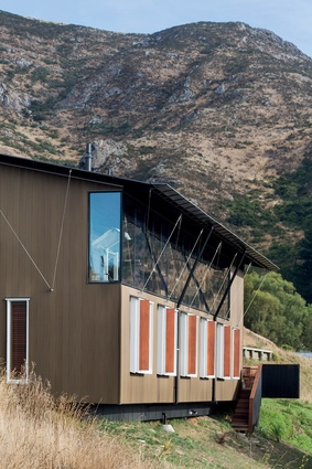 Overlooking Lyttelton Harbour, this studio was built for the practice to live in and work from while in Christchurch.