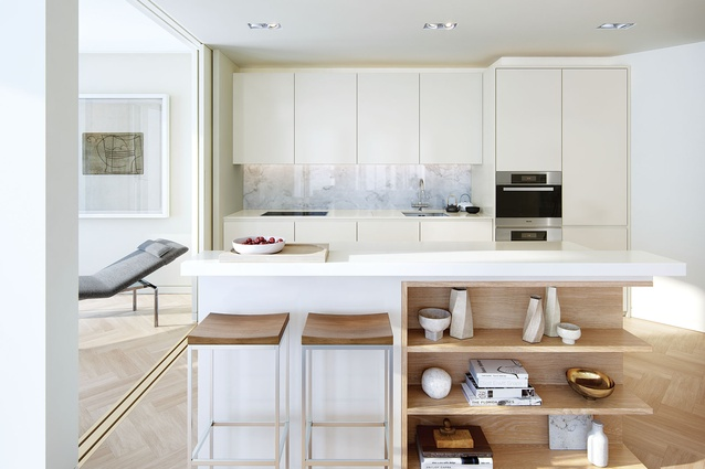 A South Bank, London, kitchen that Seuseu worked on while living in England.