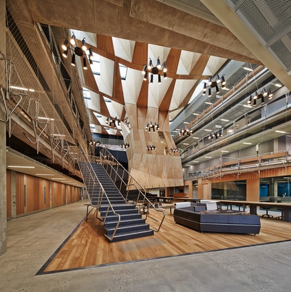 The new building for the Melbourne School of Design by John Wardle Architects and NADAAA opened in 2014.