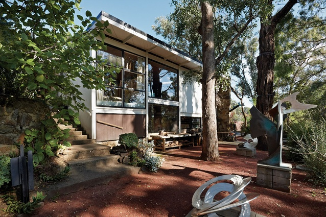 From the beginning provision was made for the house to be extended, and form a courtyard around existing eucalypts.