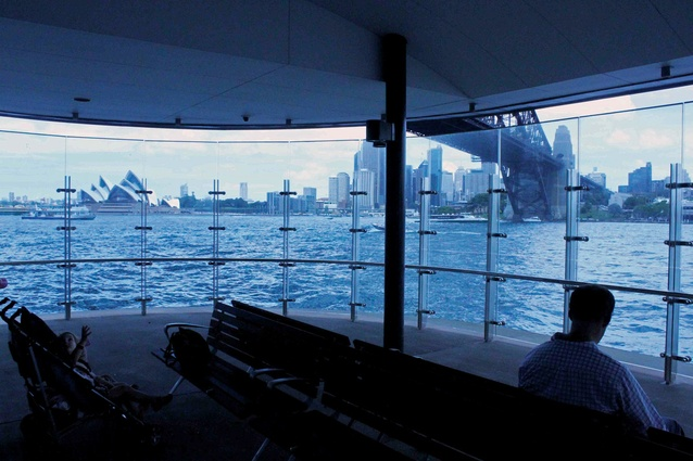 The glass enclosure at Milsons Point Ferry Wharf in 2011.