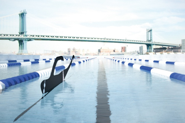 The +Pool uses an innovative filtration system to clean the river water for swimming.