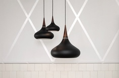 Matt black Orient pendant by Lightyears