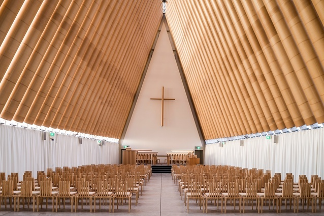Cardboard Cathedral by Shigeru Ban Architects (Christchurch, New Zealand, 2013)