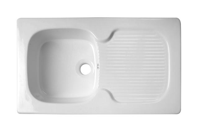 Acquello Fireclay single inset sink.