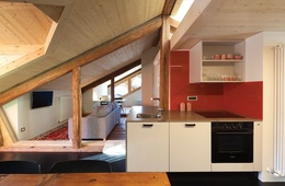 Attic in the Dolomites