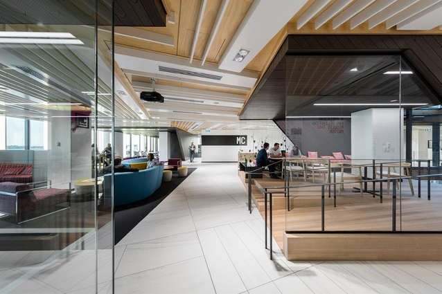 Finalist: Workplace over 1,000m<sup>2</sup> – Meredith Connell (Auckland) by Warren and Mahoney.
