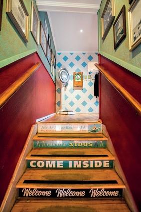 A colourful entrance.