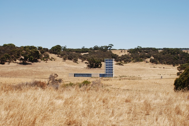 Proposed Kangaroo Island resort by Parti. Pictured: an early visualization of a lodge with a cookery school in summer.