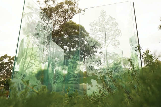 When viewed up close, the glass panels affect most of the viewer's field of vision.
