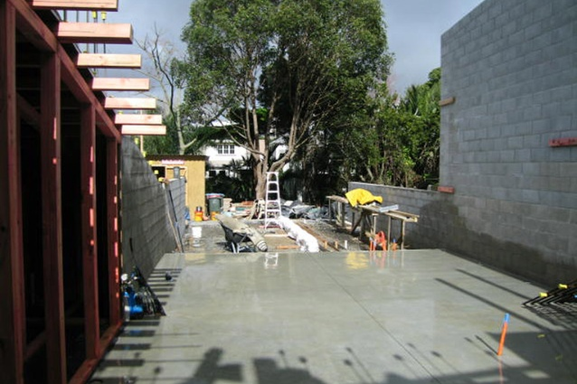 The slab is laid at College Hill.