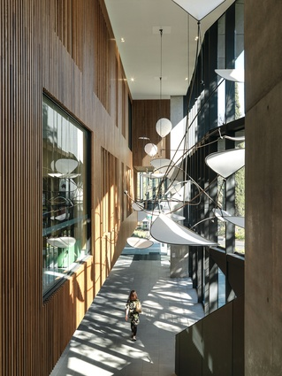 The architects chose to retain a raw materiality and used Intergrain Ultraclear Interior for its transparent finish.