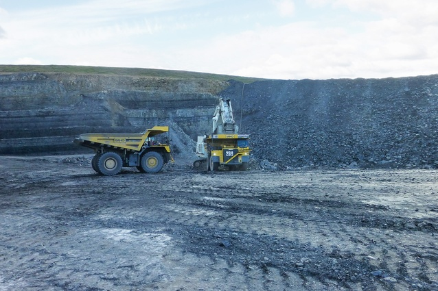 A wetland under construction at Banks Mining's Brenkley Lane surface mine near Newcastle, UK.