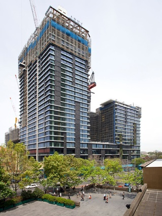 Jean Nouvel's One Central Park nearing completion on Broadway, Sydney.