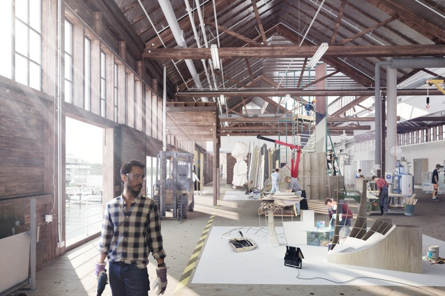 The ceiling of the Sydney Theatre Company's workshop will be lifted to allow the company to build larger sets.