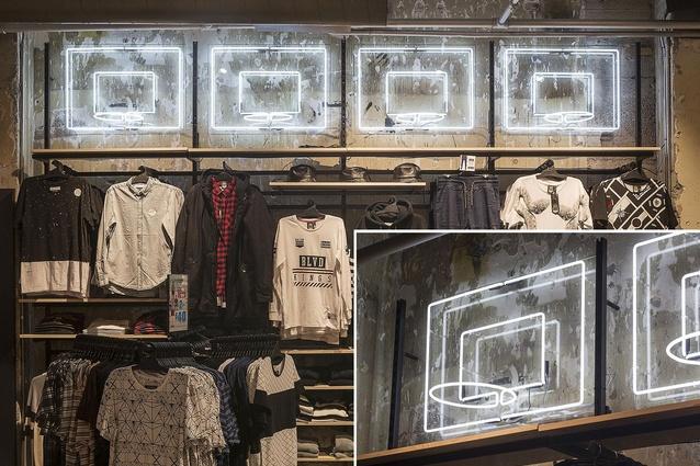 Finalist: Retail – Hallensteins Queen Street (Auckland) store by Studio Gascoigne.