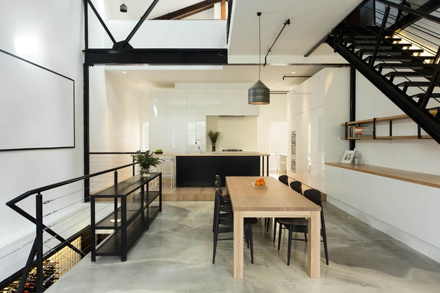 The heart of the home is the airy kitchen on the first floor.