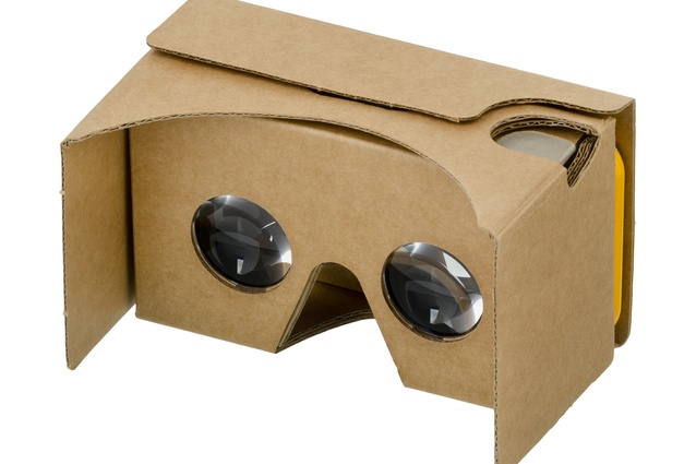 Google's Cardboard goggles could allow the user to digitally experience as yet unrealised architectural spaces.