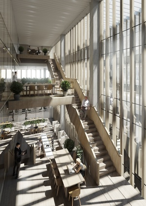 The proposed Australian embassy building in Washington DC, USA, by Bates Smart will feature an expansive glass atrium.