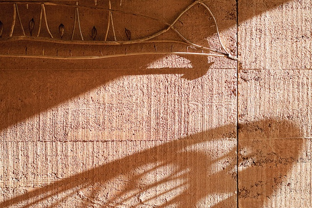 Rammed earth is a textural inspiration.