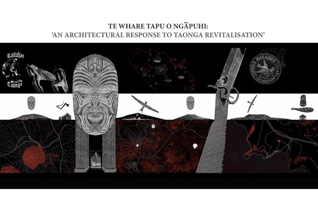 Runner-up in the Conceptual category: <em>Te Whare Tapu o Ngapuhi: 'An Architectural Response to Taonga Revitalisation'</em> by Rameka Alexander-Tu'inukuafe.