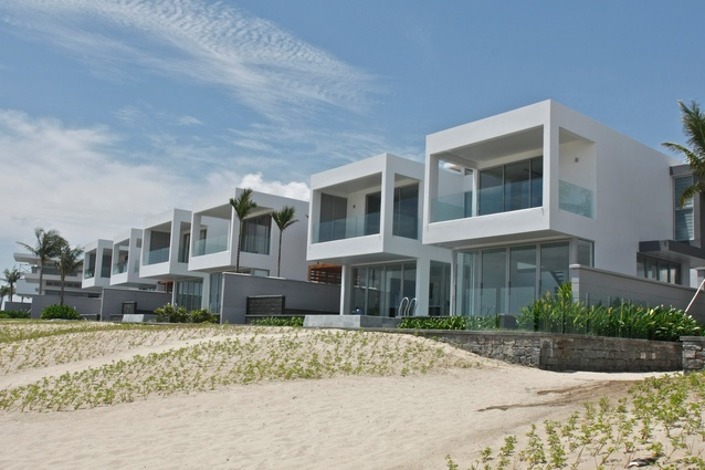 The eight new villas on the beach south of Da Nang.