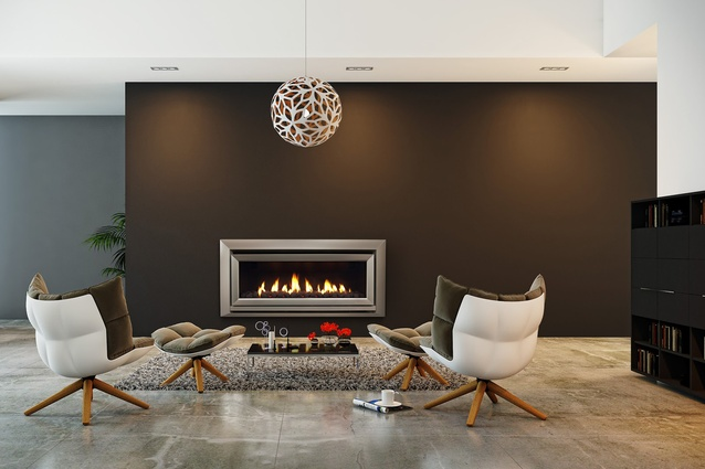 "<a href=""http://www.escea.com/nz/fireplaces/indoor-fireplaces/dl-series/dl1100/"" target=""_blank""><u>Escea's DL1100</u></a> is a 5- Star-efficiency gas-fuelled fireplace that can be remotely operated via any device connected to the internet."