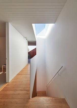 The new staircase brings soft light into the centre of the house via a generous skylight.
