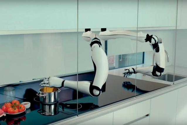 Moley Robotics' robotic kitchen.